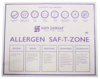 San Jamar Allergen Saf-T-Zone Mat