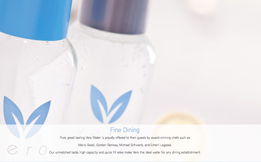 Vero Water Service for Restaurants